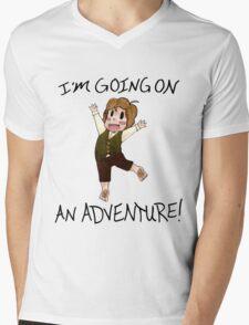 "The Hobbit: ""I'm Going on An ADVENTURE!"" Mens V-Neck T-Shirt"