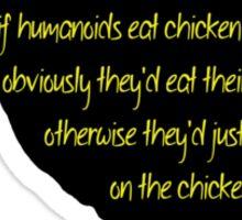 Picking on the Chicken Silhouette Sticker