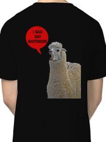alpaca speaking Classic T-Shirt