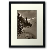 Deep snowy creek Framed Print