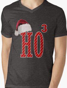 Cute Santa Hat HO3 Christmas Ho Ho Ho Mens V-Neck T-Shirt