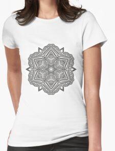 Mandala 54 Monochrome Womens Fitted T-Shirt