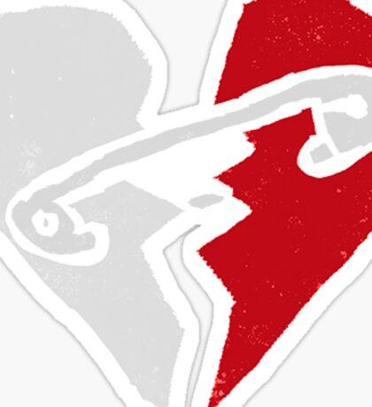 5SOS Logo Red & White Sticker