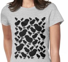 Chick Silhouette Womens Fitted T-Shirt