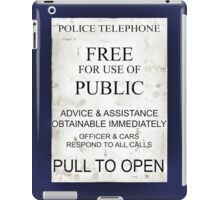 Ipad Tardis - Pull To Open iPad Case/Skin
