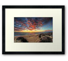 Beachcombers Sunset Framed Print