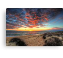 Beachcombers Sunset Canvas Print