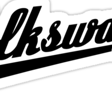 Volkslogo (black) Sticker
