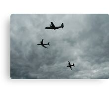 Formation Break of 707 + 2 Hercules,2006  Canvas Print