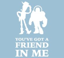 Toy Story Woody and Buzz Lightyear You've Got A Friend In Me by brightpaper