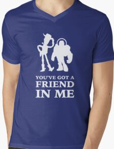 Toy Story Woody and Buzz Lightyear You've Got A Friend In Me Mens V-Neck T-Shirt