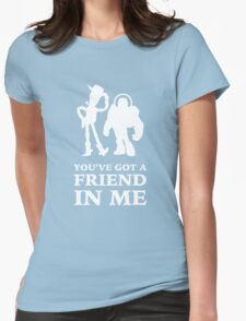 Toy Story Woody and Buzz Lightyear You've Got A Friend In Me Womens Fitted T-Shirt