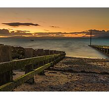 Morcombe Bay Sunset Photographic Print