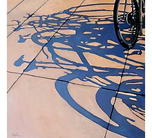 The Gathering - bicycle art oil painting Photographic Print