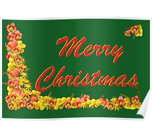 Flowery Christmas Poster