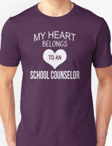 My Heart Belongs To An School Counselor - Tshirts & Accessories T-Shirt