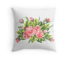 flowers one stroke  Throw Pillow