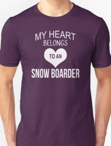 My Heart Belongs To An Snow Boarder - Tshirts & Accessories T-Shirt