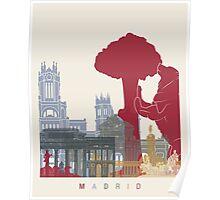 Madrid skyline poster Poster