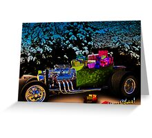 Santa Rod a 23 Ford Model-T Roadster Hot Rod Filled with Gifts! Greeting Card