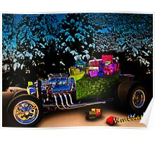 Santa Rod a 23 Ford Model-T Roadster Hot Rod Filled with Gifts! Poster