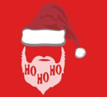 Ho Ho Ho Santa Hat and Beard One Piece - Long Sleeve