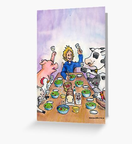Vegan Thanksgiving Greeting Card