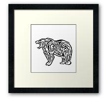 Tribal Bear Framed Print