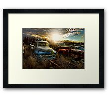 Gone Parking Framed Print