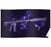 CSGO Elemental Series   M4A1-S SMOKE Poster