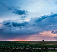 Storm Sunset - quotation by Kiarn