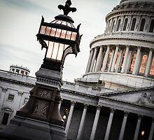 Capitol Lamp at Dusk by Caroline Price