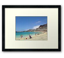 Canary Island Beach Framed Print