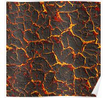 Texture fiery lava Poster