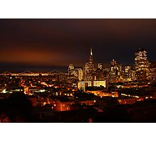 San Francisco Dressed in Lights  Photographic Print