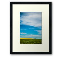 Canola in Big Sky Country Framed Print