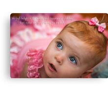 Beauty & Happiness of children - Quotation Canvas Print