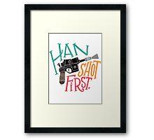 Star Wars - Han Shot First Framed Print