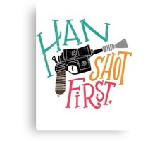 Star Wars - Han Shot First Canvas Print