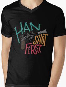 Star Wars - Han Shot First Mens V-Neck T-Shirt