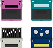 Boss Guitar Pedals - Set #2 by d13design