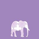 Purple Elephant - Iphone Case  by sullat04