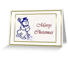 Merry Christmas with snowman Greeting Card