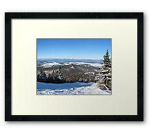 Down The Slope Framed Print