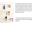 Primodels Review-Lancome Advent Calendar by primodels
