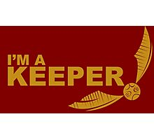 I'm a Keeper - Yellow ink Photographic Print