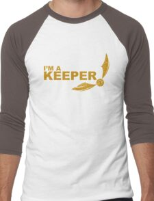 I'm a Keeper - Yellow ink Men's Baseball ¾ T-Shirt