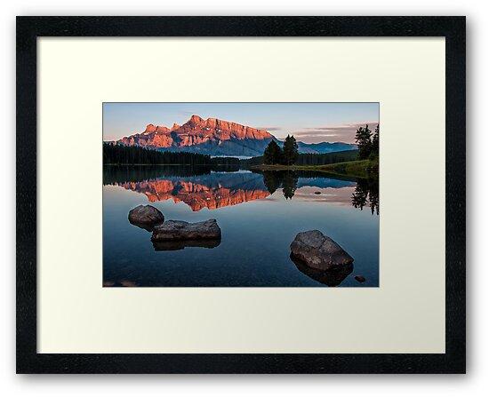 Lake Minnewanka Sunrise by James Wheeler
