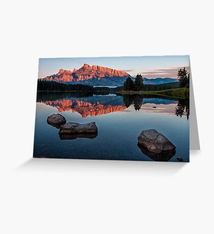 Lake Minnewanka Sunrise Greeting Card