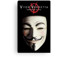 V for Vendetta Poster Canvas Print
